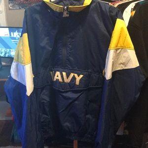 Vintage starter windbreaker navy